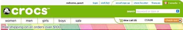 Crocs Online Store